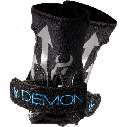 Ski Tough neoprene construction will protect your wrists when you ride with the Demon Snow Wrist Guards. When you fall snowboarding, it's either your knees, bum, or wrists. But, somehow it seems like your wrists always bear the brunt of the impact\227make sure they're ready. - $9.98