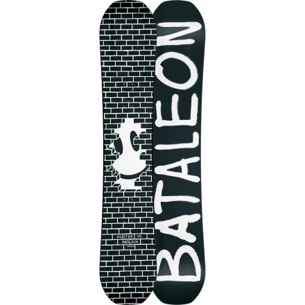 Snowboard If you're planning on spending a lot of time in the streets this winter, you need a jib board that's up to the challenge. The Bataleon Disaster Snowboard was meant to be pressed, slid, buttered, and bonked from the terrain park to downtown. Triple Base Technology combines the loose, forgiving feel of a rocker board with the pop of camber for easier landings without washing out, and the Toughcore has super-soft flex that's perfect for jibbing, yet is very strong so that it won't snap halfway through the season. - $221.97