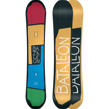 Snowboard Bataleon's Goliath Snowboard has earned a spot among the legendary in the all-mountain performance scene for a reason. It's tough to argue with Triple Base Technology for a control and stability, an ultra-fast sintered base for speed, and a super-wide stance pattern for a totally custom feel. - $275.97