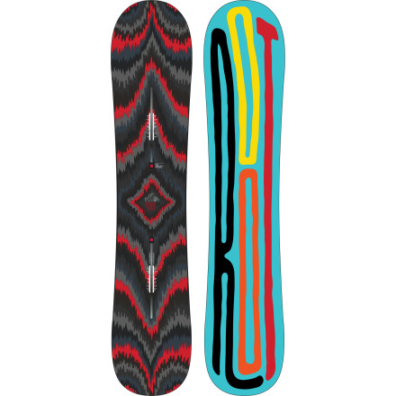 Snowboard Traditional snowboard design dictates that freeride boards should be stiff, unfriendly planks that prefer carving turns to spinning off cornices. Burton turns the concept of a big-mountain board upside down with the all-new Root Snowboard, featuring the cutting-edge Nug Raduction technology that lets you downsize your board by up to 10cm without compromising high-speed control or deep-snow float. - $269.97