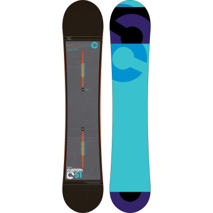 Snowboard Let's be honest; we both know why you're here. You want a snowboard that rips everywhere from park jumps to cliffed-out chutes to early-morning groomer laps with precision and power. The Burton Custom has been that board for well over a decade, thanks to a fine-tuned shape and yearly technological evolutions like Squeezebox core profiling and carbon Lightning Bolts. - $370.97