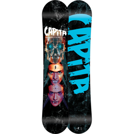 Snowboard The Capita Outdoor Living Snowboard creeps through the night, preying on the innocent souls foolish enough to follow it into dark alleys. The only way to stop it is to drive a wooden stake directly through its heartbut we're guessing you'll love this poppy, zero-camber true twin way too much to even consider that. - $239.97