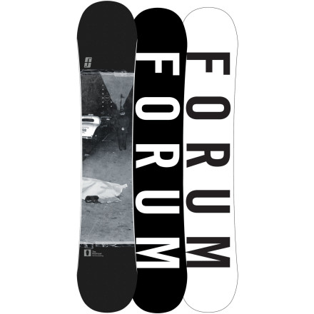 Snowboard Combining the best of rocker and camber, the Forum DoubleDog Destroyer Snowboard is a killing machine hell-bent on ripping apart the park. The DoubleDog with Pop profile has camber underfoot for boosting massive ollies and launching off lips, and rocker zones between the bindings and at the tip and tail for playful jibbing and forgiveness when things don't go quite as planned. - $224.98