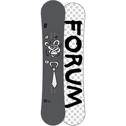 Snowboard Keeping it buttery is the name of the game for the Forum Manual ChillyDog Snowboard. The ChillyDog with Pop rocker provides playful, catch-free rocker from tip to tail for fun and forgiving jibbing, but with stiffer zones outside the bindings for huge ollies and tons of pop off jumps. - $169.98