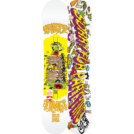 Snowboard Rocker is fun in powder and all, but more than a few skate-influenced pro riders are switching back to buttery camber boards like the Rome Artifact (or never gave them up in the first place). For gnarly features like big gaps or closeout rails, cambered boards gives you undeniably better pop and control, and make your boardslides feel more locked-in. The Artifact's soft flex and bombproof construction help you tear apart street features or the jib line in the park, while the QuickRip sidecut keeps the ride predictable at any speed. - $233.97