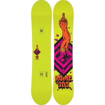 Snowboard If your riding style is skate-influenced and jib-heavy, you're going to love the Rome Boneless Snowboard. SkateCore profiling and No Hang Ups rocker give it the feeling of cruising around on your skateboard for a playful, flowy ride that makes it easy to transition from the skatepark to the terrain park come winter. It also has a super-soft flex that makes jibbing a blast, but still retains pop and response thanks to a wood core and HotRods glass rods milled into the core. - $233.97