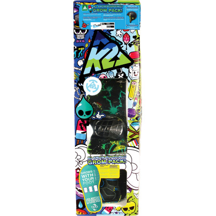 Snowboard The K2 Mini Turbo Grom Package gets little rippers started down the road to a lifetime of snow-sliding fun. Includes an easy-to-ride board complete beginner-friendly Catch Free rocker, and room-to-grow boots and bindings to ensure multiple seasons of utility. - $209.97