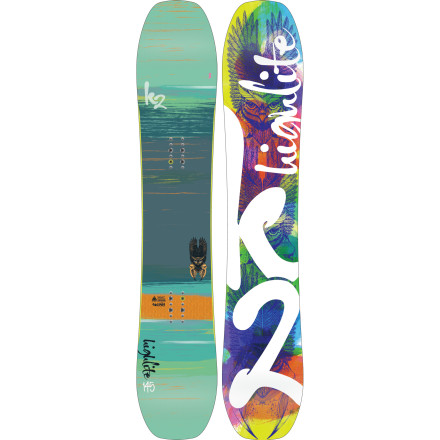 Snowboard K2 designed the Women's High Lite Snowboard for the true all-mountain ripper. The High Lite is geared toward soft snow with BC shaping and Tweekend technology, but its All Terrain Rocker won't leave you high and dry on hardpack, either. - $329.97