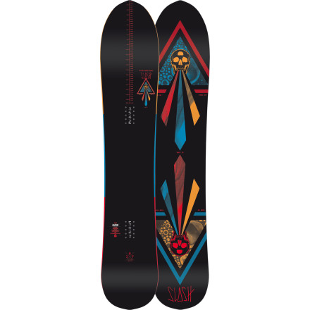 Snowboard The Nitro Slash Snowboard was built to hold a solid edge in any conditions and keep you floating effortlessly through snorkel-deep powder. The Gullwing hybrid profile offers reliable control and grip underfoot, with plenty of float thanks to the tapered shape and pointy nose. - $299.97