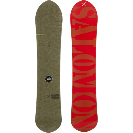 Snowboard The Salomon Mini Pow Ripper Snowboard rejects the notion that you have to ride a huge, lumbering tank to stay on top of deep snow. With an extra-long effective edge, above-average waist width, and slightly tapered shape, the Mini Pow Ripper is easy to huck around yet still offers enough surface area to keep you ripping through that sweet, sweet pow. - $239.94