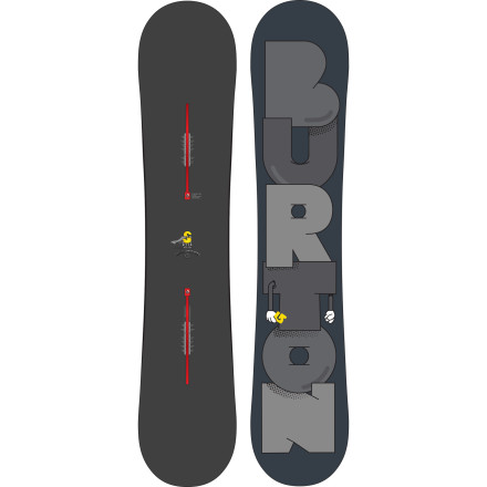 Snowboard The Burton Super-Hero Wide Snowboard is recognized as 'amazing' 'spectacular,' and 'stupendous' by seasoned and novice park-rats alike. This big-footed booter blaster and soft-flexing rail-ringer relies on the freestyle-focused Flat Top profile, Nug Raduction shaping, and twin geometry to save the day, all while foregoing the tight spandex and obnoxious neon colors. - $314.97