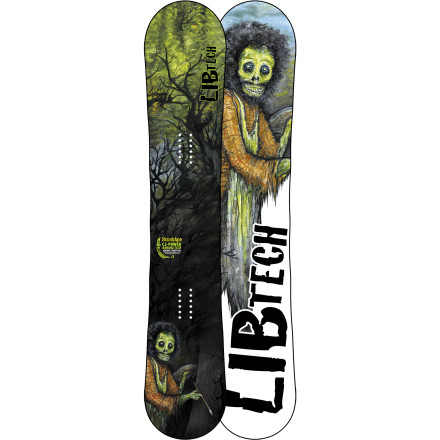 Snowboard Remember that blurry, shadowy figure you saw ripping through the woods last winter' That was Sasquatch, and he was riding the Lib Tech Skunk Ape C2 BTX Wide Snowboard. Our furry friend usually keeps a low profile, but he came out of hiding long enough to help Lib Tech develop the ultimate all-mountain freestyle board for lumberjack-sized shredders. The C2 hybrid camber profile, snappy-yet-stompable flex, and a sustainably-farmed Columbian Gold core all keep Mr. Squatch happy while he shreds through the enchanted forest. - $335.97