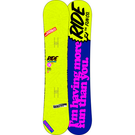 Snowboard Dedicated riders, from the unsung locals to those who frequent the podium, choose the Ride Buckwild Wide Snowboard for lapping the park, cutting up the walls of a superpipe, taking apart rails, and sending backcountry booters. The Buckwild uses Twin Rocker and a medium flex for a combination of stability and forgiveness. And if its roster of tech doesn't convince you, maybe its base graphic will. - $293.97