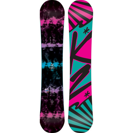 Snowboard K2 designed the Sky Lite Snowboard to take your riding to the next level in a hurry. The Sky Lite excels all over the mountain with a tough extruded base and a light, poppy feel. - $203.97