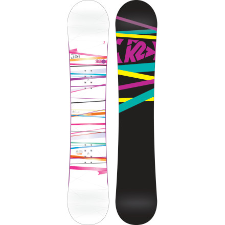 Snowboard Ride right over the speedbumps on your way to snowboard mastery with the K2 Women's First Lite Snowboard. Easy to turn, easy to ride, and tough as nails, the First Lite keeps you progressing from first turns to first air. - $179.97
