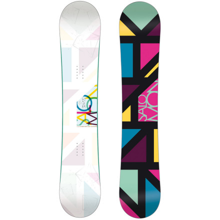 Snowboard Instead of donning a silly cap and gown when it's time to graduate from the bunny slopes, strap on the progression-minded Salomon Women's Spark Snowboard. The Spark's soft flex and rocker profile make it the ideal platform to begin working towards your degree in park moves, with a minor in pow studies. - $329.90