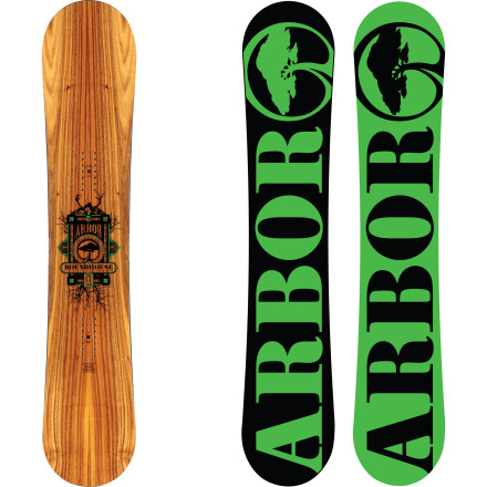 Snowboard Kick ass with your big feet all over the mountain on the Arbor Roundhouse CX Snowboard. Traditional camber combined with wood and bamboo construction give it tons of pop and power for charging steeps and ripping hardpack, and the directional shape keeps it afloat in pow when the snow piles up. - $341.97