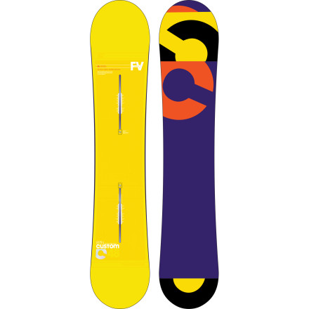 Snowboard It's no accident that Burton keeps bringing back the Custom Flying V Snowboard  year after year. With the playful Flying V profile and a medium flex, the Custom Flying V is truly an all-mountain destroyer. Plus it's offered in enough lengths for just about everyone, meaning there's no excuse not to pick one up. - $317.97