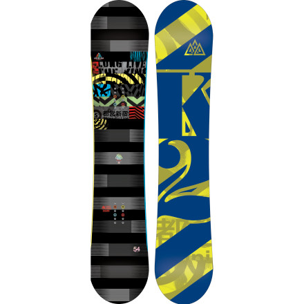 Snowboard Just because you have big boots doesn't mean you have to ride a deck that feels like a barn door. The  Lifelike Snowboard features K2's award-winning Flatline profile and plenty of carbon for a responsive ride that won't punish you if your landings aren't perfect. - $257.97