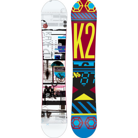 Snowboard Forget 'stun'. Set your blasters to 'fun' and get ready to annihilate any kind of terrain or feature in front of you with the K2 Raygun Snowboard. This snappy but playful freestyle weapon also has a setback stance to increase float for when you set your sights on the powder. - $287.96