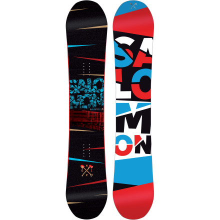 Snowboard Any terrain, any location, any type of snow. Whether it's oversized kickers, huge cliffs, or leg-twitching steeps, the Salomon Grip Snowboard rules them all, thanks to the Pow Rocker profilewith liberal rocker on the nose and tail and staunch stability between the feet. And as far as speed goes, the turbo-charged Sintered EG base will take you around the mountain with quickness and reliability of a limousine/race car hybrid. - $269.94