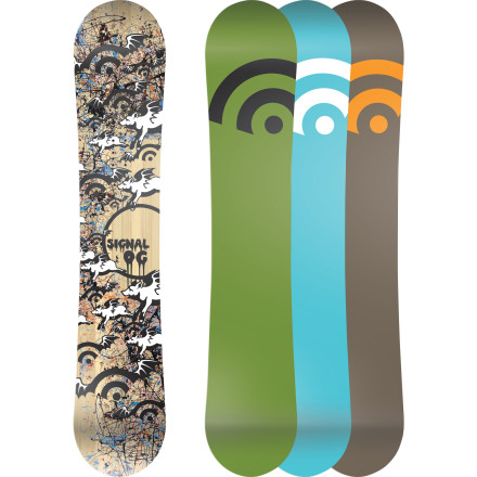 Snowboard Constructed and hand painted in Southern California, the Signal OG Series Snowboard is made with pure snowboarding in mind. Poppy traditional camber is as OG as it gets and works for everything from ripping icy groomers to stomping slushy park jump landings. - $269.97