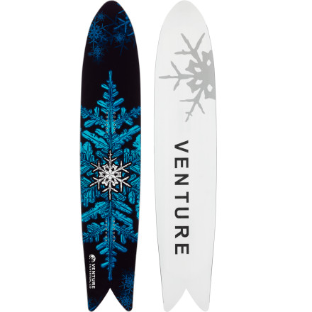 Snowboard The Venture Euphoria Snowboard will change your perception of what a snowboard should be like. With an inverse sidecut and a swallowtail shape, the Euphoria gives riding powder a whole new feeling. It floats easily in overhead conditions, and its unique shape gives it a surfy feeling that you've never experienced on a traditionally shaped snowboard. Get ready to rethink your definition of what snowboarding is to you. - $595.00