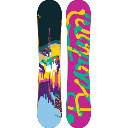 Snowboard In true femme fatale fashion, the Lip-Stick Snowboard from Burton is your secret weapon;  this one, however, is used for tearing up the entire mountain rather than extracting secrets from enemy spies. New Flat Top profile gives you the stability of flat between your bindings and the floaty, catch-free benefits of early rise tip and tail for a board that kills it in all conditions. - $287.97
