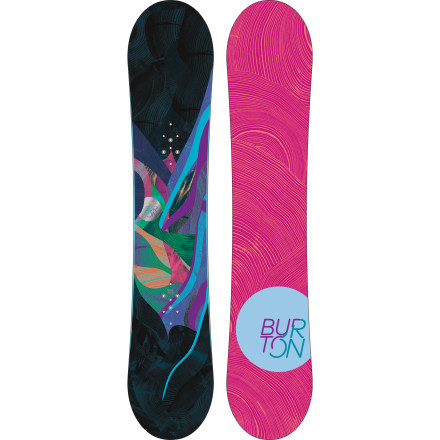 Snowboard The mountain can be both awe-inspiring and intimidating. The Burton Womens Lux Snowboard pampers the ride with a soft-flexing, women-specific True-Flex Super Fly core and steers you to the good times with a Flat Top profile, twin shaping, and a directional flex. - $239.97