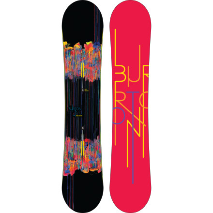 Snowboard Burton used Carbon Highlights fiberglass and a Super Fly II core to make the Feelgood Women's Snowboard the lightest women's board they've ever made. With snappy traditional camber and a lightning-fast sintered WFO base, the Feelgood gives you ultimate control all over the mountain, so you can feel great no matter where you're riding. - $317.97