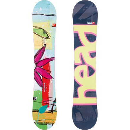 Snowboard With the Head Women's Stella Snowboard and its Flocka profiling, you can have the best of both flat and camber and groove your way through the park, the powder, and the groomers with an emphasis on freestyle fun the whole way. - $124.98