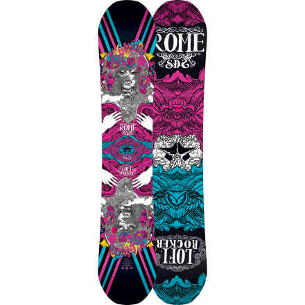 Snowboard Representing the Yin and Yang of boarding, the Rome Women's Lo-Fi Rocker Snowboard's flex straddles the line between playful and powerful, making it fun for both the progressing princess and hard-charging, all-mountain maven, or everyone that's a little of both. The Lo-Fi expresses itself through FreePop rocker and ollie-boosting HotRods so you can cover the park, groomers, and pow fields in any style you want. - $269.97