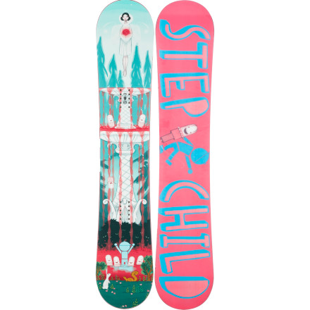 Snowboard What's better than riding the cotton pony' Riding the Stepchild PMS Snowboard. A totally flat Zero Camber profile ensures maximum freshness on presses and absorbs any size landing, while the Snag Free base lets you jib like a madwoman with no strings attached. - $258.96