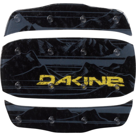Snowboard Slap the three-piece DAKINE Modular Mat Stomp Pad down on your deck and treat your sasquatch-sized paws to some traction for once. Feet smaller than a semi' The Modular will still work like a charm so you won't fall on your face while loading or unloading the high-speed quad. - $4.77