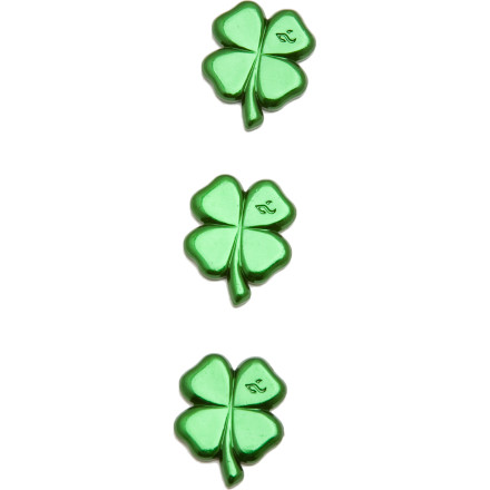 Snowboard For a bit o' the Irish luck while you're ripping through pow, get the Snow Demon Clover Stomp. The three-pack Clover Stomp, constructed of aluminum, keeps your bootand your luckin place. And the acrylic adhesive ensures your luck stays put. - $5.98