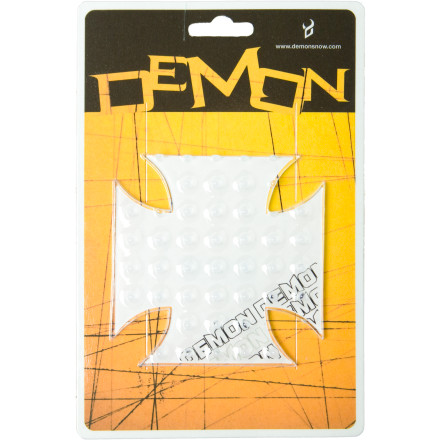 Snowboard Falling down in the liftline and pushing across the flats only becomes more humiliating the longer you've been riding. The Demon Snow Cross Clear Stomp Pad is here to help you save some face and maybe even a broken tailbone. - $4.98