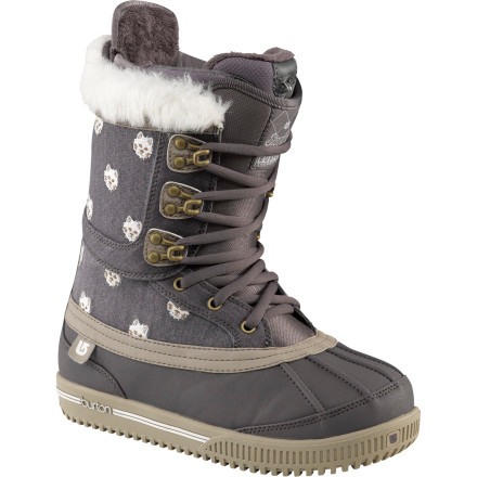 Snowboard The Burton Women's Sterling Snowboard Boot combines new technology with old-school styling for a super-warm, super-stylish boot that you won't want to take off once you're done riding. The sterling is already wired for your Therm-ic boot heater, so just plug in and go. - $209.97