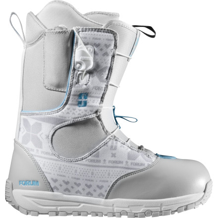 Snowboard The Forum Women's Script Tweaker boot has a softer-flexing medial panel for effortless pressing and grabbing, and a slightly stiffer lateral panel for increased response and support for bombing groomers and carving powder. And with the time-saving ease of SpeedZone lacing, the Script Tweaker will have you locked, loaded, and ready to rip while your crew is still fumbling with laces. - $89.98