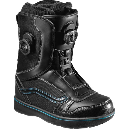 Snowboard There's a certain aura about the Vans Women's Aura Boa Snowboard Boot that introduces good vibes to your foot. Its comfy TriFit-X liner and super-supportive V3 footbed keep your foot happy, and the micro-adjustability of the Vans Double Boa lacing system keeps it feeling securely locked in. - $174.93