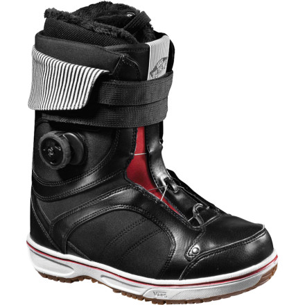 Snowboard Straight up, the Vans Women's Kira Boa Snowboard Boot is proof that forgiving and flexible doesn't have to eschew support and high-rebounding energy. This beautiful-mutant of a freestyle boot caters to the female park rider looking for customizable flex and the power hit big man-made and natural features alike. - $153.93