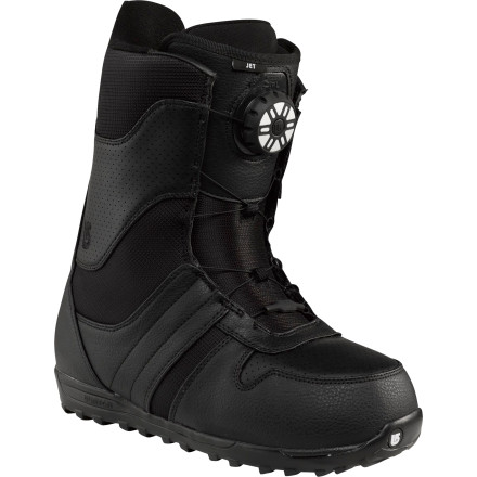 Snowboard The Burton Jet Snowboard boot provides Burton's new Speed Dial Lacing System at entry-level pricing, so you can enjoy badass techy features without having to pass on lunch every day. - $95.97