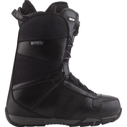 Snowboard From the park to the backcountry, if soft, flexible comfort is what you seek, then look no further than the Nitro Anthem TLS Snowboard Boot. The Anthem's unique combination  of flexibility, comfort, and bomber durability have made it a legend among riders in the know. - $131.97