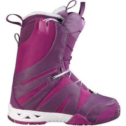 Snowboard Keep the weight off with the Salomon F2.0 Women's Snowboard Boot. Fusion construction integrates the liner and shell into one low-profile piece to reduce materials and improve response, and the Aero sole is built like a running shoe sole to be super thin for excellent board feel without sacrificing impact absorption. - $161.94