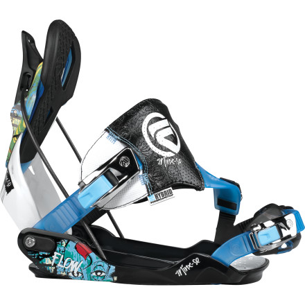 Snowboard Flow bindings have always been some of the most supportive and easiest-to-operate bindings on the planet. With the Women's Minx-SE Binding, you'll enjoy all the comfort and support that has made Flow legendary, plus special edition comic-inspired graphics that set the Minx-SE way apart from all those other cookie-cutter bindings. - $125.99