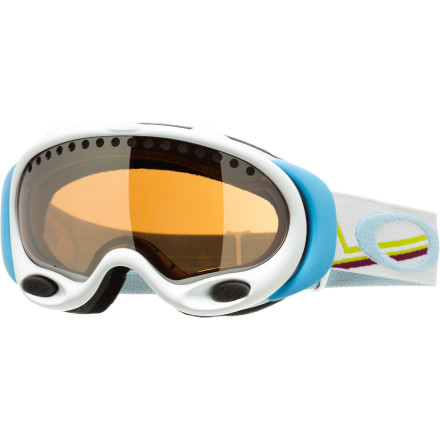 Snowboard Just like its namesake, the Oakley Gretchen Bleiler Signature Peaks A-Frame Goggle has stacked shred-credentials and career highlights that the competition can't touch. High-end tech and constant innovation give this durable and comfy frame Gretchen's approval and we're sure you will dig it, too. - $77.00