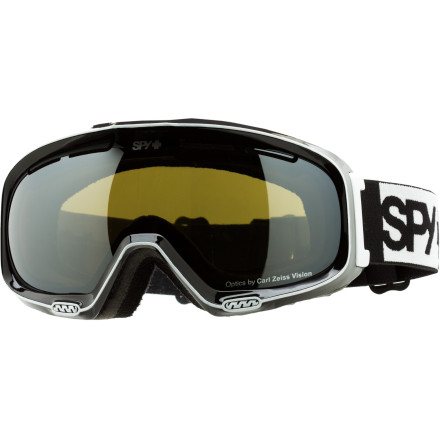 Snowboard The Spy Women's Bias Goggle packs innovative technology like Carl Zeiss optics and Spy's patented Scoop anti-fogging technology into a sleek, super-stylish frame. You may be so fond of the original, eye-catching graphics you may attempt to wear the Bias into the pub after a day on the mountain. Hopefully, someone will be there to tell you that's a fashion don't. - $71.97
