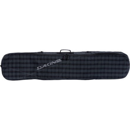 Snowboard The DAKINE Pipe Snowboard Bag is a no- frills solution to getting your board from one airport to the next or keeping your gear together for those weekend pow-hunting trips. A removable shoulder strap makes for a comfortable carry, and a full-length zipper gives you easy access to your board. - $31.47