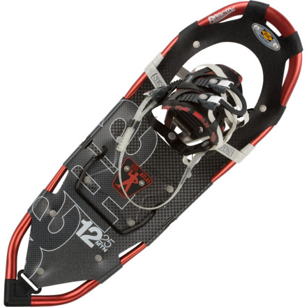 Camp and Hike Whether you're heading up a Search and Rescue crew or you just like to get lost in an occasional whiteout, the Atlas 12 Series Snowshoe is ready to serve as your go-to big-mountain foot gear. The 12 series offers a variety of features oriented towards steeper and deeper treks so you stay on top of the snow and on top of your game. - $195.97