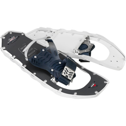 Snowboard The MSR Men's Lightning Flash Snowshoe utilizes the same 360-Degree Traction Technology as its siblings, but it uses a lighter, more minimal design for mellow terrain. - $199.95
