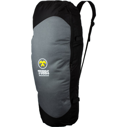 Camp and Hike Your snowshoes want to get out and see the world. Take them along in the Tubbs Snowshoe Bag, with durable nylon canvas and mesh to prevent soggy, wet, and heavy hauling. Sling it onto your back and feel the snug anatomical fit, or grab the side handle and go. - $27.96